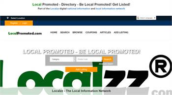 LocalPromoted.com - Local Promoted information. National to local business and information listings.
